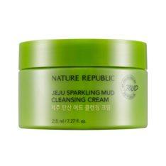 Nature Republic Jeju Sparkling Mud Cleansing Cream 215ml korean cosmetic skincare shop malaysia singapore indonesia