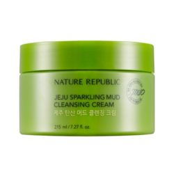 Nature Republic Jeju Sparkling Mud Cleansing Cream 215ml korean cosmetic skincare shop malaysia singapore indonesia