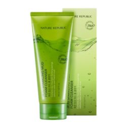 Nature Republic Jeju Sparkling Mud Foam Cleanser 150ml korean cosmetic skincare shop malaysia singapore indonesia