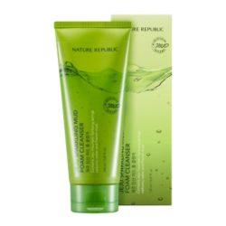 Nature Republic Jeju Sparkling Mud Foam Cleanser 150ml korean cosmetic skincare shop malaysia singapore indonesia