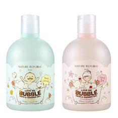 Nature Republic Love Me Bubble Bath & Shower Gel 510ml korean cosmetic skincare shop malaysia singapore indonesia