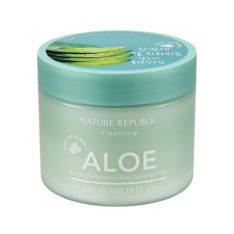 Nature Republic Natural Fermentation Aloe Cleansing Cream 300ml korean cosmetic skincare shop malaysia singapore indonesia