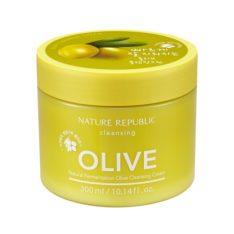 Nature Republic Natural Fermentation Olive Cleansing Cream 300ml korean cosmetic skincare shop malaysia singapore indonesia