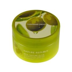 Nature Republic Real Nature Olive Cleansing Cream 200ml korean cosmetic skincare shop malaysia singapore indonesia