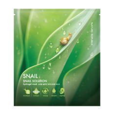 Nature Republic Snail Solution Hydrogel Mask 27g snail korean cosmetic skincare shop malaysia singapore indonesia