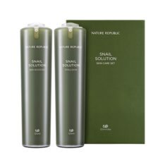Nature Republic Snail Solution Skin Booster 120ml + Emulsion 120ml korean cosmetic skincare shop malaysia singapore indonesia
