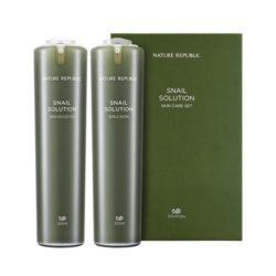 Nature Republic Snail Solution Skin Booster 120ml + Emulsion 120ml korean cosmetic skincare shop malaysia singapore indonesia