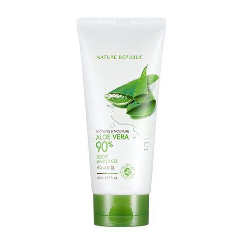 Nature Republic Soothing & Moisture Aloe Vera 90 Body Shower Gel 150ml korean cosmetic skincare shop malaysia singapore indonesia
