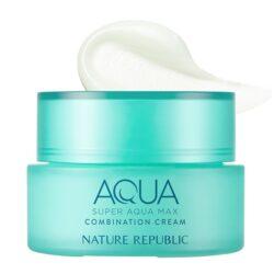 Nature Republic Super Aqua Max Combination Cream 80ml korean skincare product online shop malaysia china usa