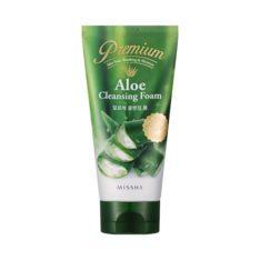 Missha Premium Aloe Cleansing Foam 130ml korean cosmetic skincare shop malaysia singapore indonesia