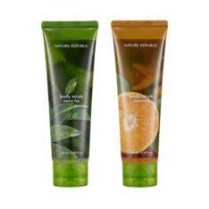 Nature Republic Bath & Nature Body Scrub Wash 130ml korean cosmetic skincare shop malaysia singapore indonesia
