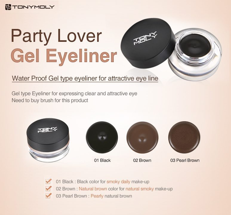 TONYMOLY Party Lover Gel Eyeliner – seoul next by you Malaysia