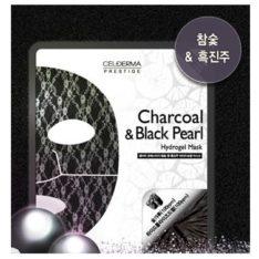 CELDERMA Prestige Charcoal & Black Pearl Hydrogel mask price malaysia singapore thailand vietnam philippine canada