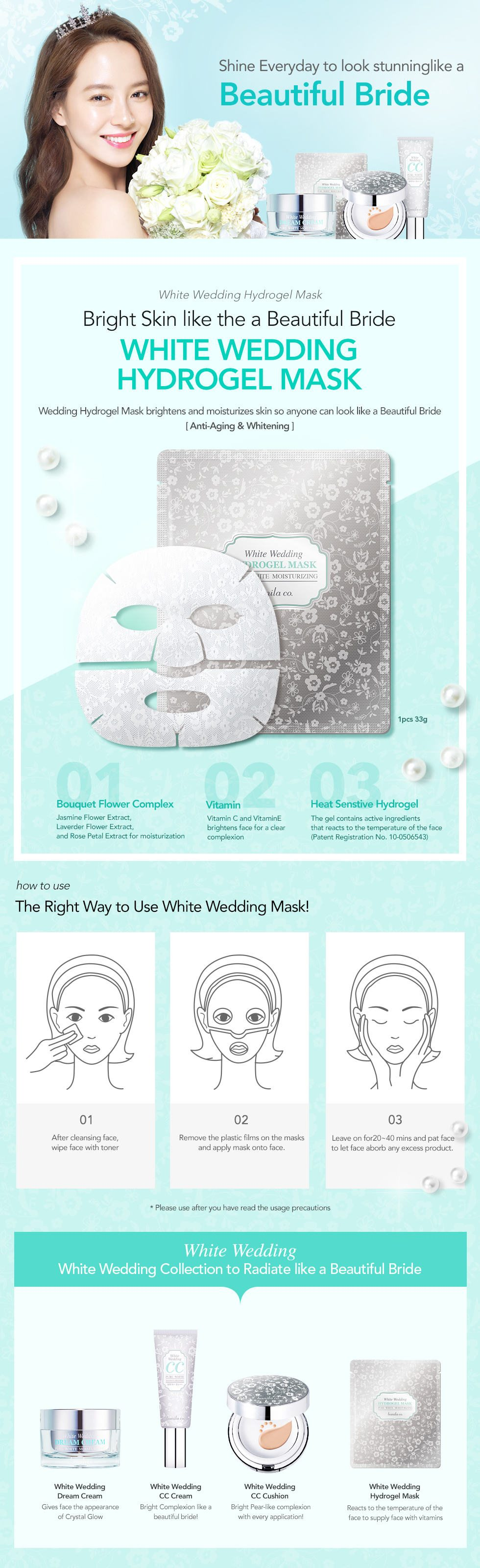 Banila Co White Wedding Hydrogel Mask 35g malaysia singapore indonesia
