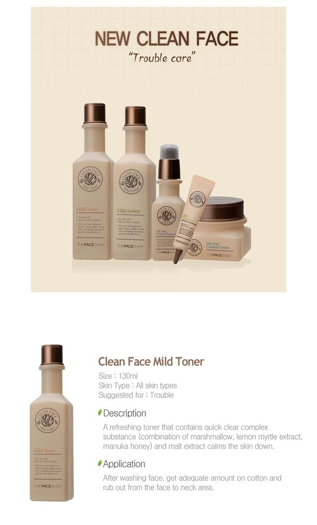 Image result for The Face Shop Clean Face Mild Lotion - 130ml