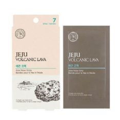 The Face Shop Jeju Volcanic Lava Aloe Nose Strips 7 sheets 20ml korean cosmetic skincare product online shop malaysia japan china