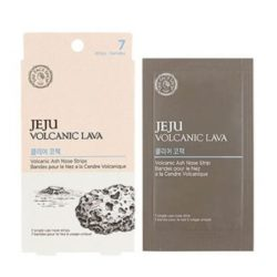 The Face Shop Jeju Volcanic Lava Ash Nose Strips 7 sheets 20ml korean cosmetic skincare product online shop malaysia japan china