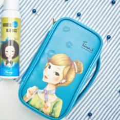 Tina. S PU Beauty Pouch korean cosmetic skincare shop malaysia singapore indonesia