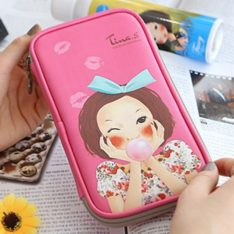 Tina. S PU Multipen Pouch korean cosmetic skincare shop malaysia singapore indonesia