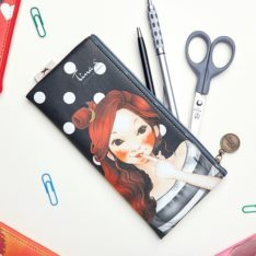 Tina. S PU Pencil Pouch korean cosmetic skincare shop malaysia singapore indonesia