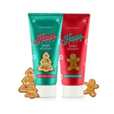 TONYMOLY Happy Sweet Holiday Cream Foam Cleanser 180ml korean cosmetic skincare shop malaysia singapore indonesia