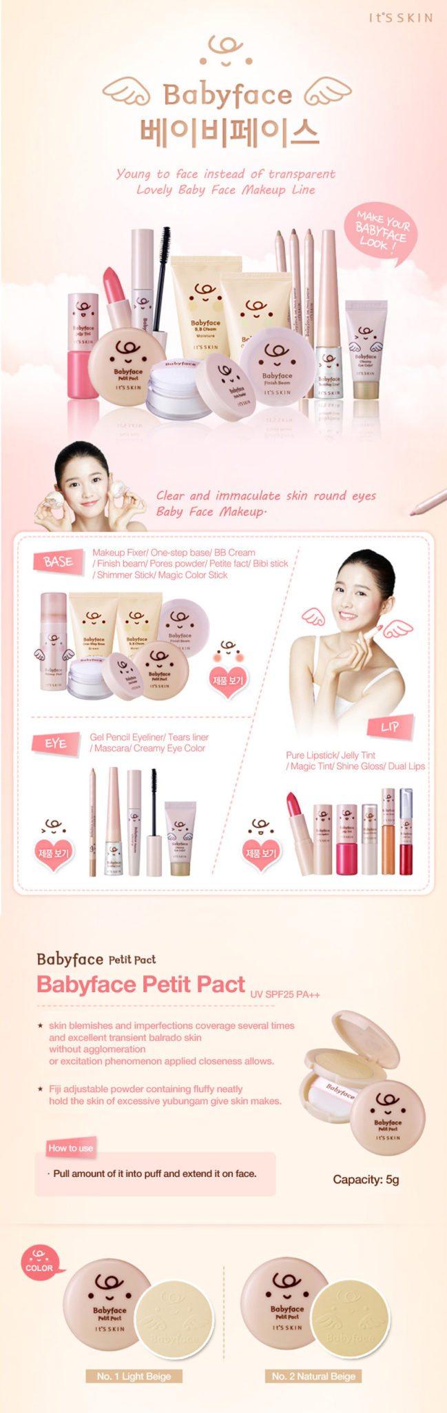 It's Skin Babyface Petit Pact SPF 25 PA++ 5g malaysia singapore indonesia