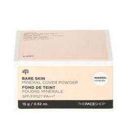 The Face Shop Bare Skin Mineral Cover Powder SPF 27 PA++ 15g korean cosmetic makeup product online shop malaysia  thailand  bhutan