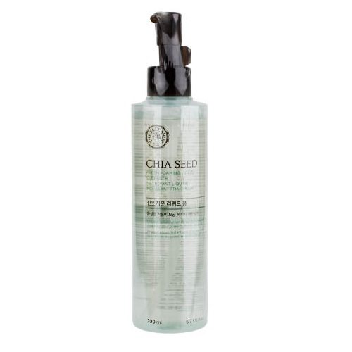 The Face Shop Chia Seed Fresh Foaming Liquid Cleanser 200ml korean cosmetic skincare cleanser  product online shop malaysia  italy  usa