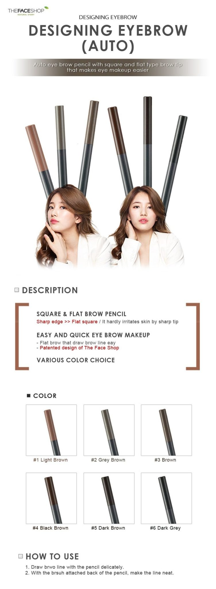 The Face Shop Designing Eyebrow Pencil Seoul Next By You Malaysia