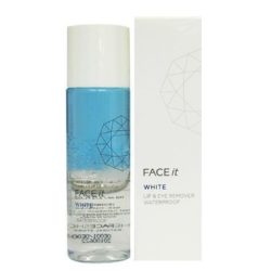 The Face Shop Face It White Lip and Eye Remover 110ml korean cosmetic  skincare cleanser product  online shop malaysia  italy  usa