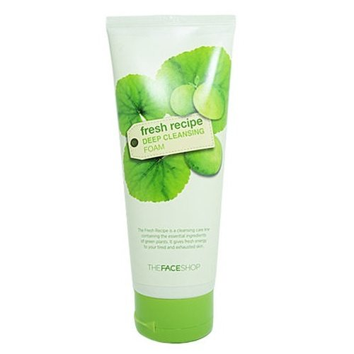 The Face Shop Fresh Recipe Deep Cleansing Foam 170ml korean cosmetic  skincare cleanser  product  online shop malaysia  italy  usa