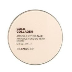 The Face Shop Gold Collagen Ampoule Cover Cake SPF 50 PA+++ 11g korean cosmetic makeup product online shop malaysia thailand bhutan