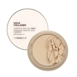 The Face Shop Gold Collagen Ampoule Two Way Pact SPF 30 PA+++ 9.5g korean cosmetic makeup product online shop malaysia thailand bhutan