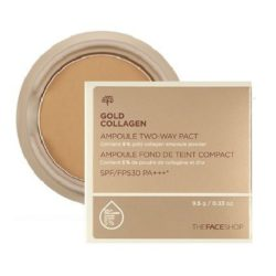 The Face Shop Gold Collagen Ampoule Two Way Pact SPF 30 PA+++ 9.5g [refill] korean cosmetic makeup product online shop malaysia thailand bhutan