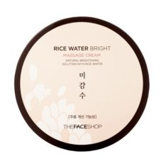 The Face Shop Rice Water Bright Massage Cream 200ml korean cosmetic  skincare cleanser product  online shop  malaysia  italy usa