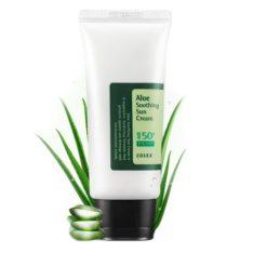 COSRX Aloe Soothing Sun Cream SPF 50+ PA+++ 50ml korean cosmetic  makeup product online shop malaysia taiwan japan