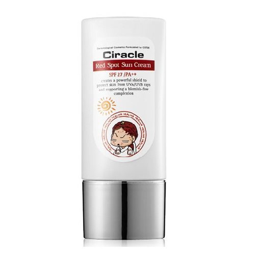 COSRX CIRACLE Red Spot Sun Cream SPF 27+ PA++ 30ml korean cosmetic  makeup product online shop malaysia taiwan japan