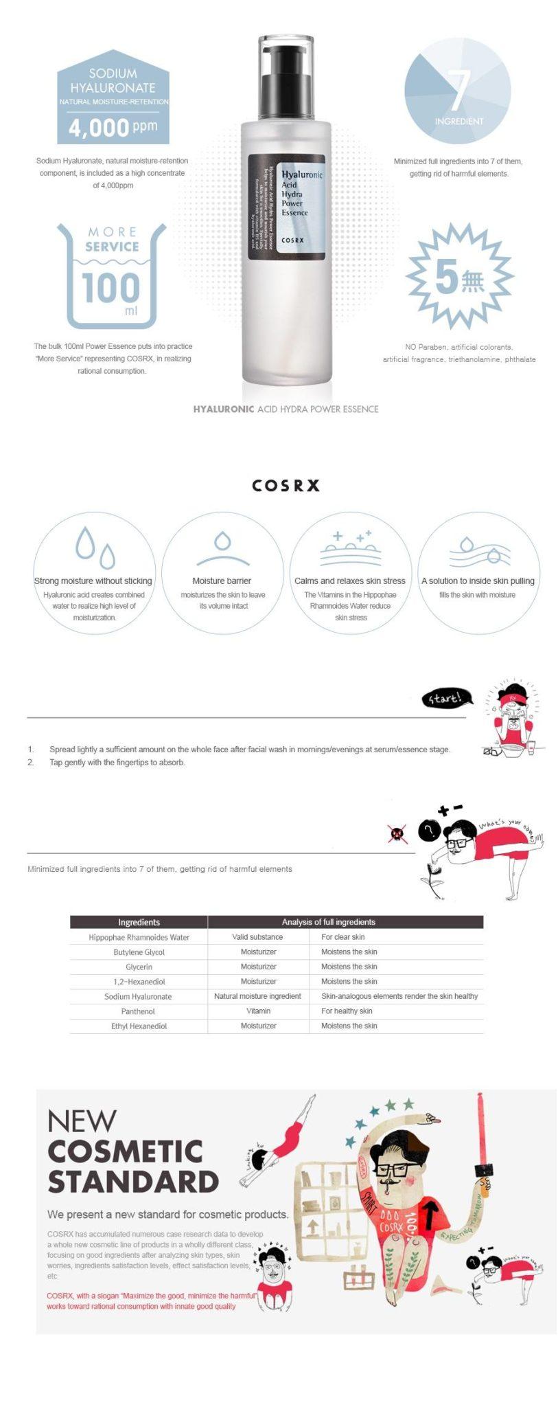 COSRX Hyaluronic Acid Hydra Power Essence 100ml