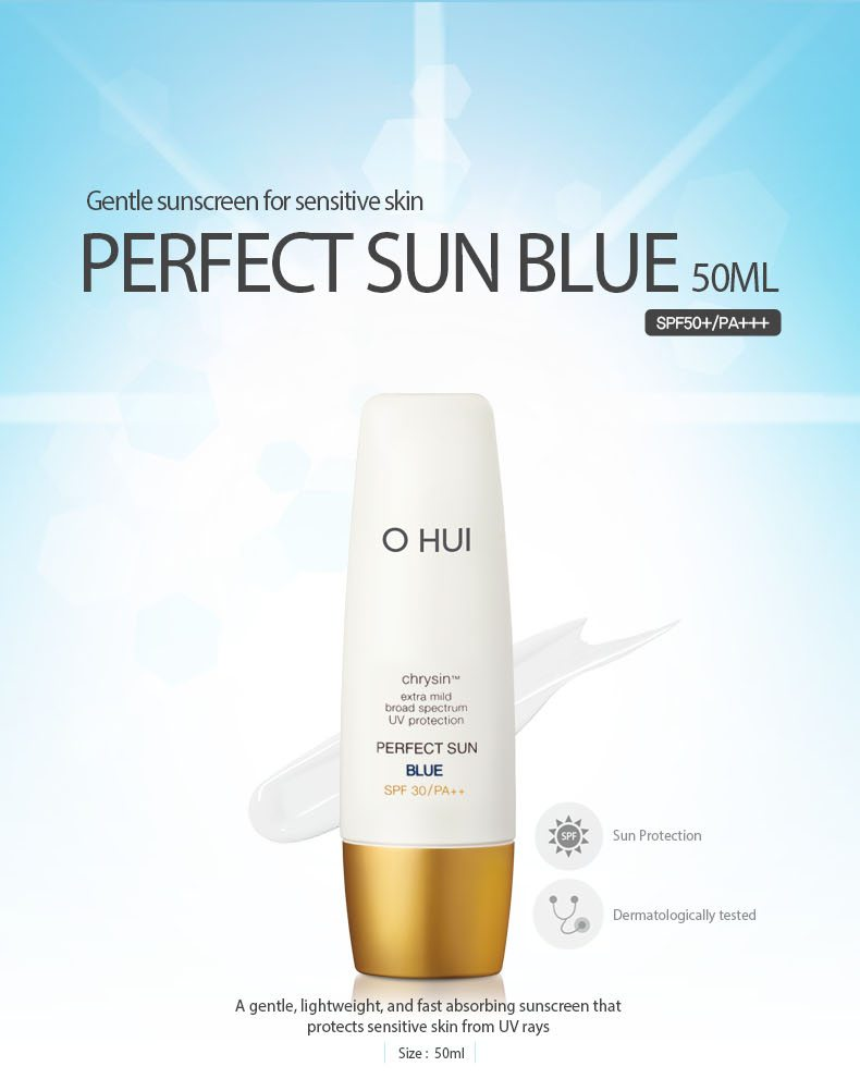 OHUI Perfect Sun Blue 50ml malaysia singapore indonesia