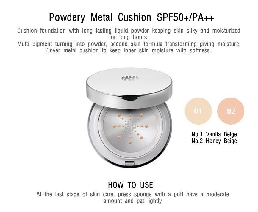 OHUI Powdery Metal Cushion 15g malaysia singapore indonesia
