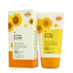 The Face Shop Natural Sun Eco Calming Sun Cream For Sensitive Skin SPF 40 PA+++ 50ml korean cosmetic makeup product online shop malaysia  thailand  bhutan