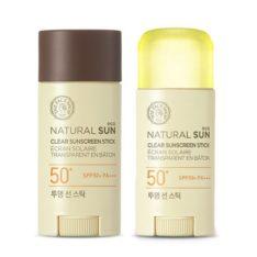 The Face Shop Natural Sun Eco Clear Sunscreen Stick SPF 50 PA+++ 13.5g korean cosmetic makeup product online shop malaysia  thailand  bhutan