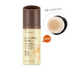 The Face Shop Natural Sun Eco Ice Air Puff Sun SPF 50 PA+++ 100ml korean cosmetic makeup product online shop malaysia  thailand  bhutan