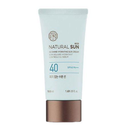 The Face Shop Natural Sun Eco No shine Hydrating Sun Cream SPF 40 PA+++ 100ml korean cosmetic makeup product online shop malaysia  thailand  bhutan
