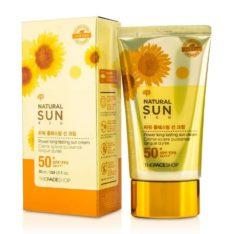 The Face Shop Natural Sun Eco Power Long Lasting Sun Cream SPF 50 PA+++ 50ml  korean cosmetic makeup product online shop malaysia  thailand  bhutan
