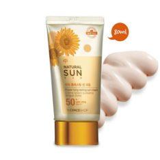 The Face Shop Natural Sun Eco Power Long Lasting Sun Cream SPF 50 PA+++ 80ml  korean cosmetic makeup product online shop malaysia  thailand  bhutan