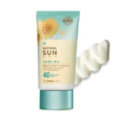 The Face Shop Natural Sun Eco Sebum Control Moisture Sun SPF 40 PA+++ 50ml korean cosmetic makeup product online shop malaysia  thailand  bhutan