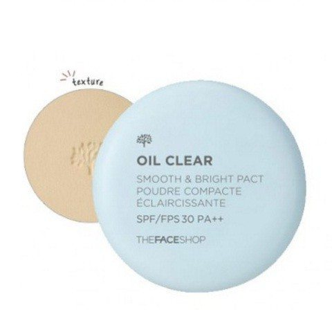 The Face Shop Oil Clear Smooth and Bright Pact SPF 30 PA++ 9g korean cosmetic makeup product online shop malaysia  thailand  bhutan