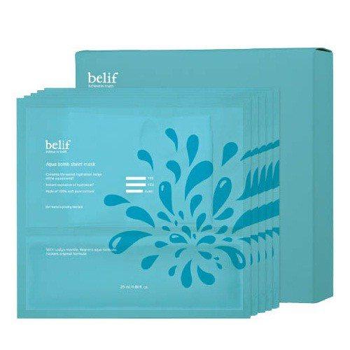 Belif Aqua Bomb Sheet Mask 5pcs box 135ml korean cosmetic skincare product online shop malaysia indonesa singapore