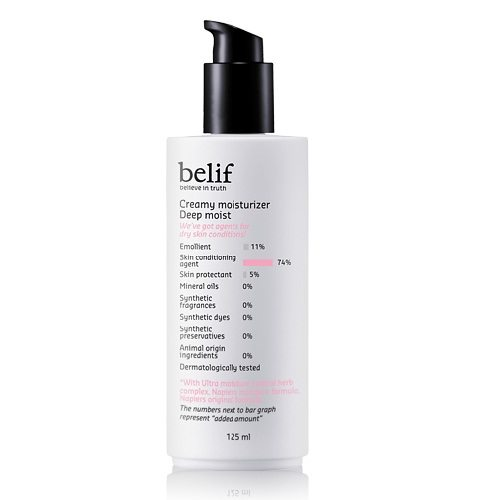 Belif Creamy Moisturizer Deep Moist 125ml korean cosmetic skincare product online shop malaysia indonesa singapore